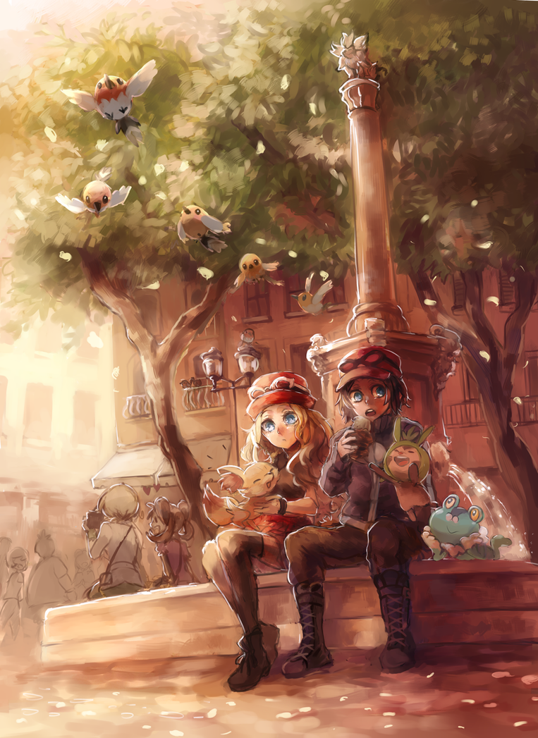 Chilling out with my Friends by ezroseven
