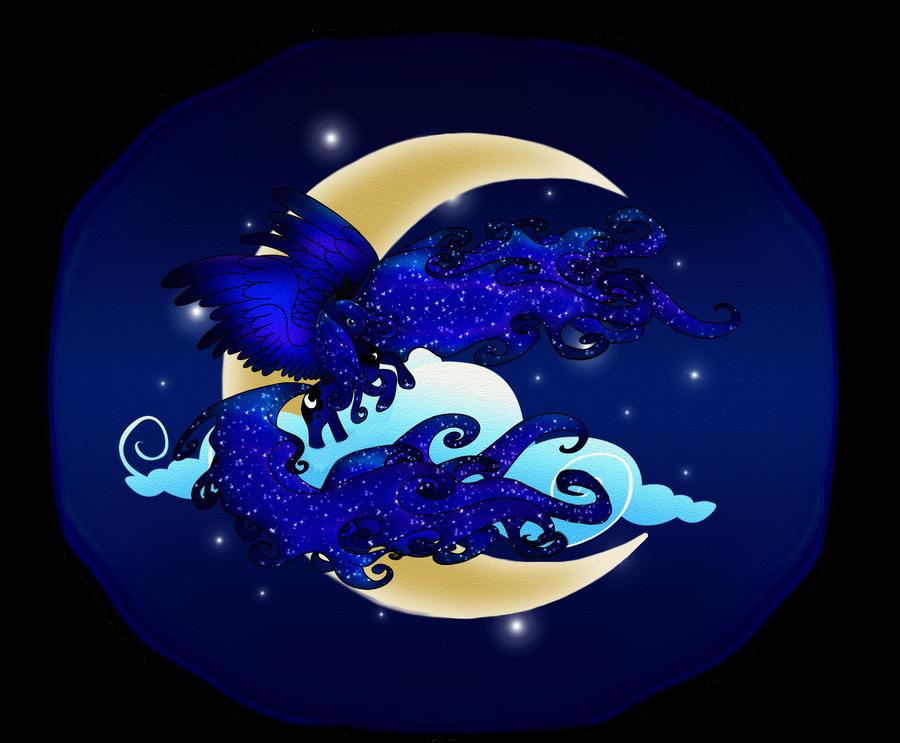 Crescent Moon Luna by macalaniaa