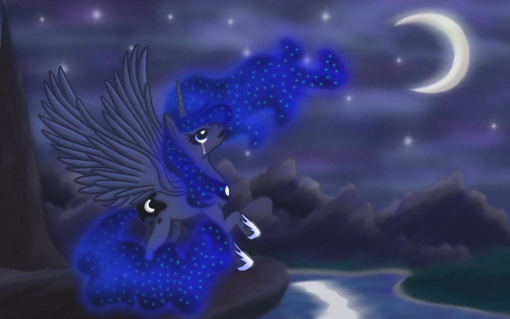 Sad Luna by macalaniaa