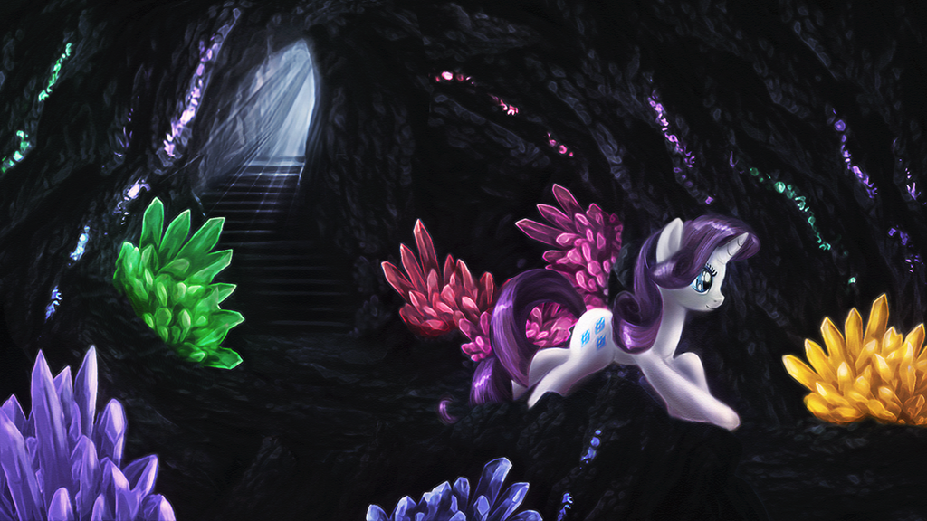 Rarity's crystal mine by macalaniaa