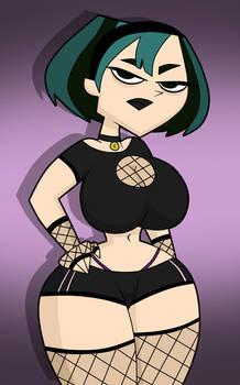 Sexy goth Gwen pin-up