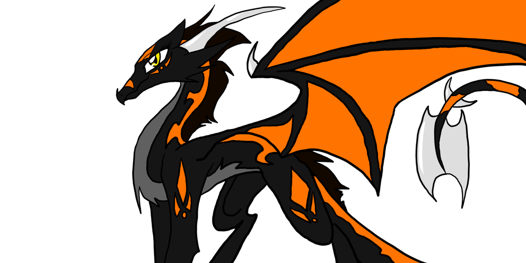 Ember the Black dragon by theWolfdragon21