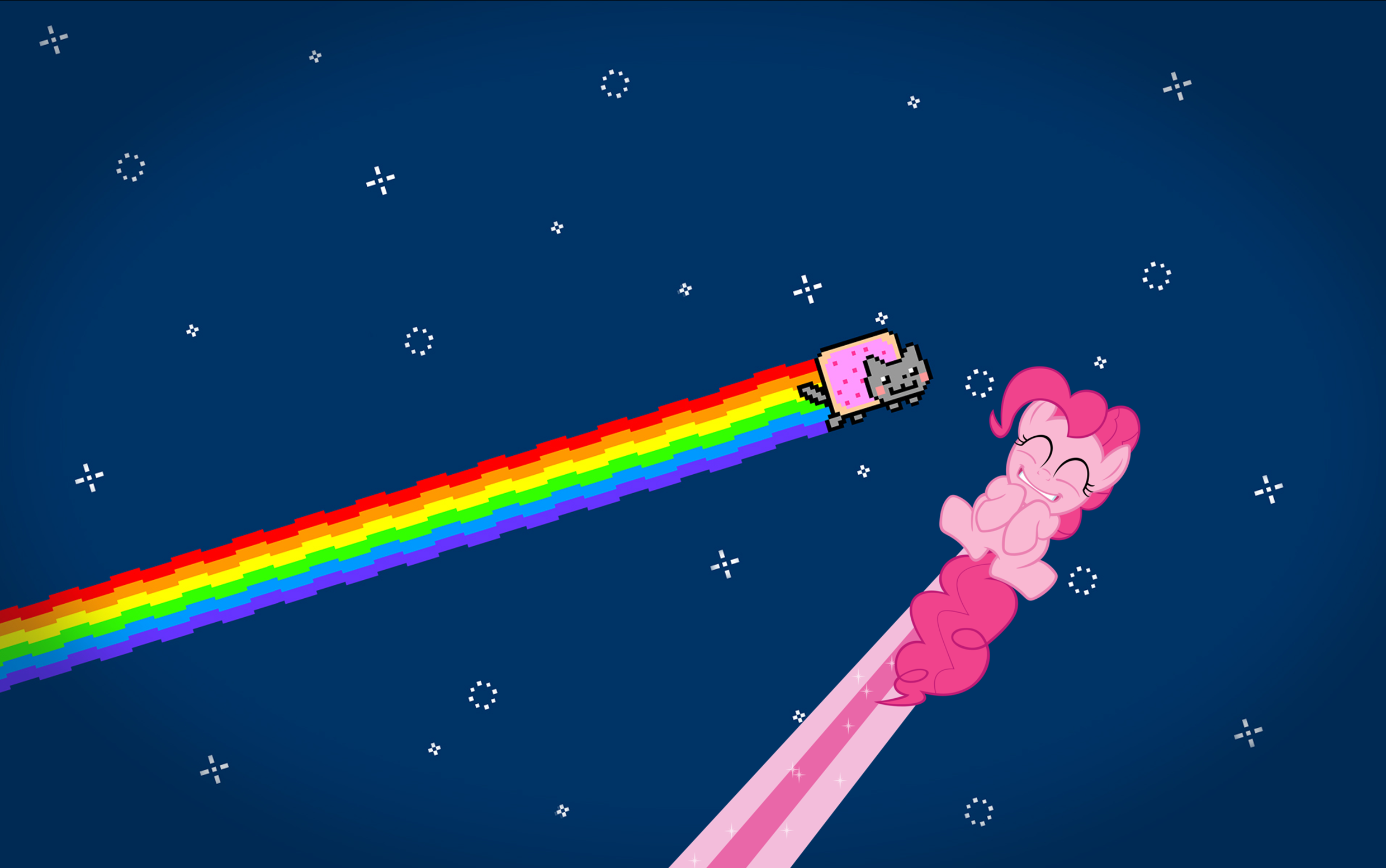 Nestordc 21 4 Nyan Cat And Pinkie Pie Wallpaper By