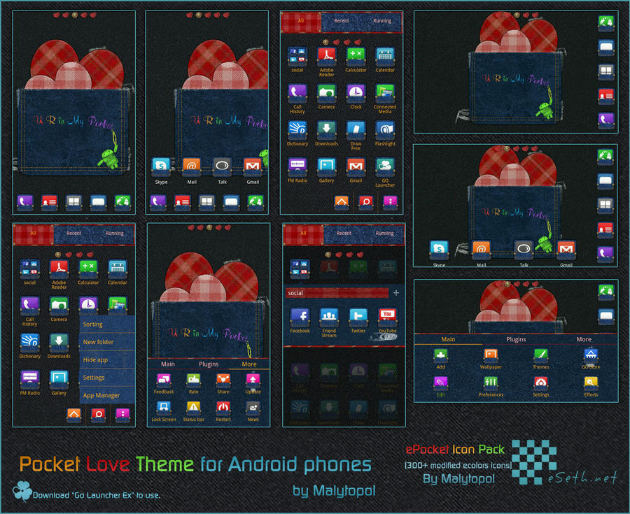 Pocket Love Android theme by malytopol