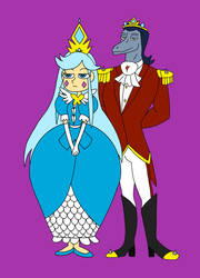Queen Moon and King Toffee by MeloYellowJellow