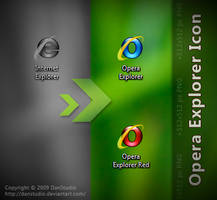 Opera Explorer Icon by DanStudio