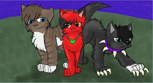 Dark, Hawkfrost and Scourge by CascadingSerenity