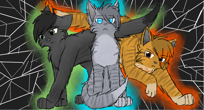 The power of three by cascadingserenity on deviantart The three cats