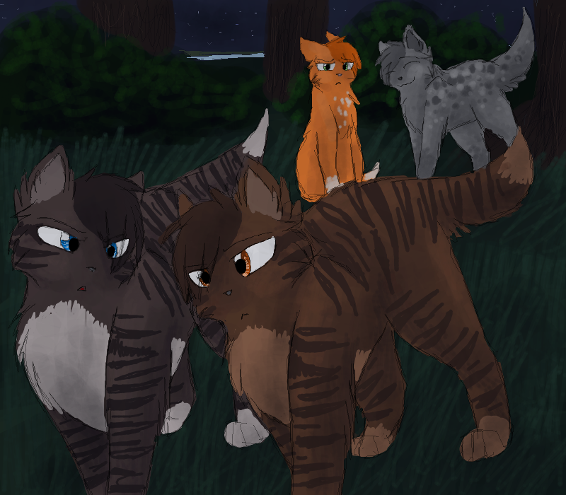 Don't trust him, Brambleclaw... by CascadingSerenity on ... Sad Cat Lineart