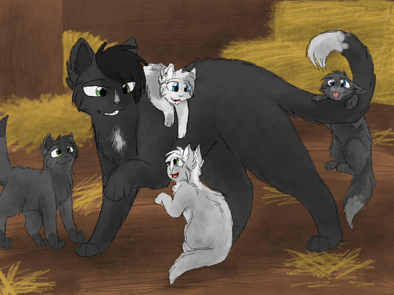 Warrior Cats Blossomkit Ravenpaw and th...