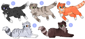 Cat Adoptables 16 - CLOSED by CascadingSerenity
