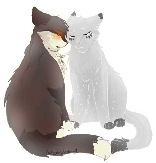 Thistleclaw and Snowfur by CascadingSerenity
