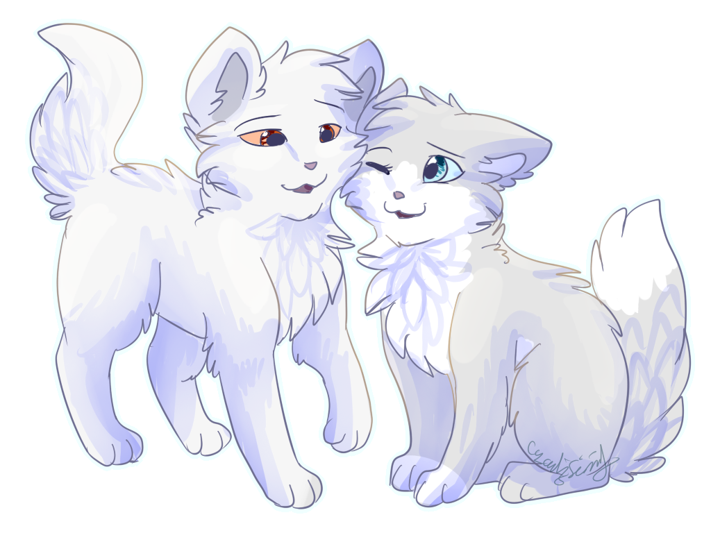 Whitestorm and wolfsong by cascadingserenity on deviantart