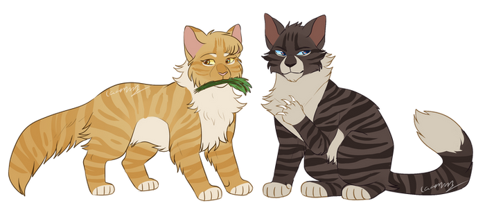 Mothwing and Hawkfrost