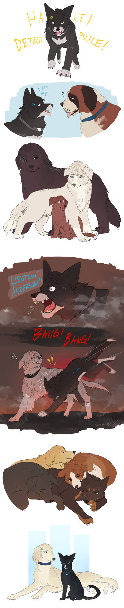 Detroit: Become Dogs Sketchdump