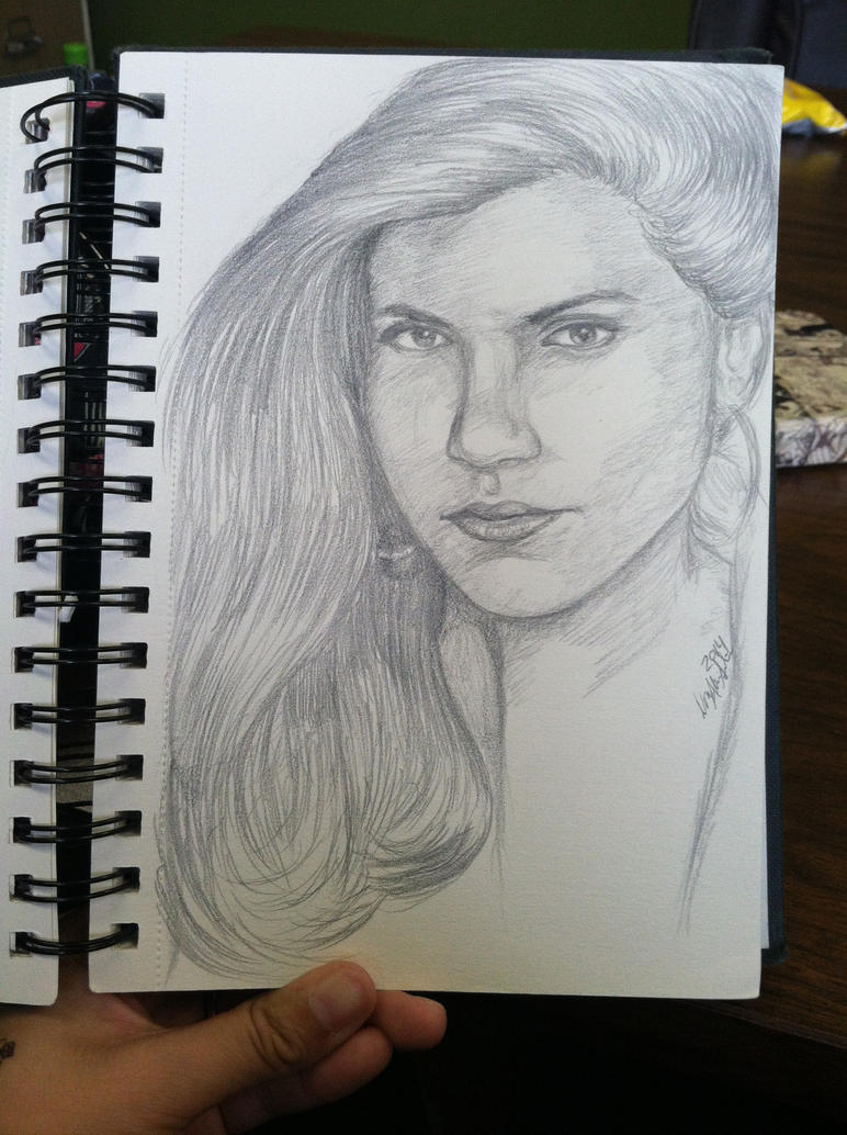 Daily Sketch: Mindy Kaling by SilverArtist1