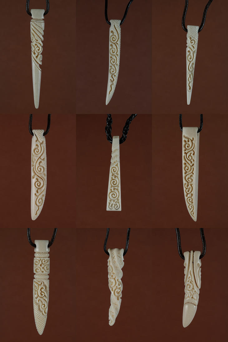 bone jewelry 14 by manuroartis