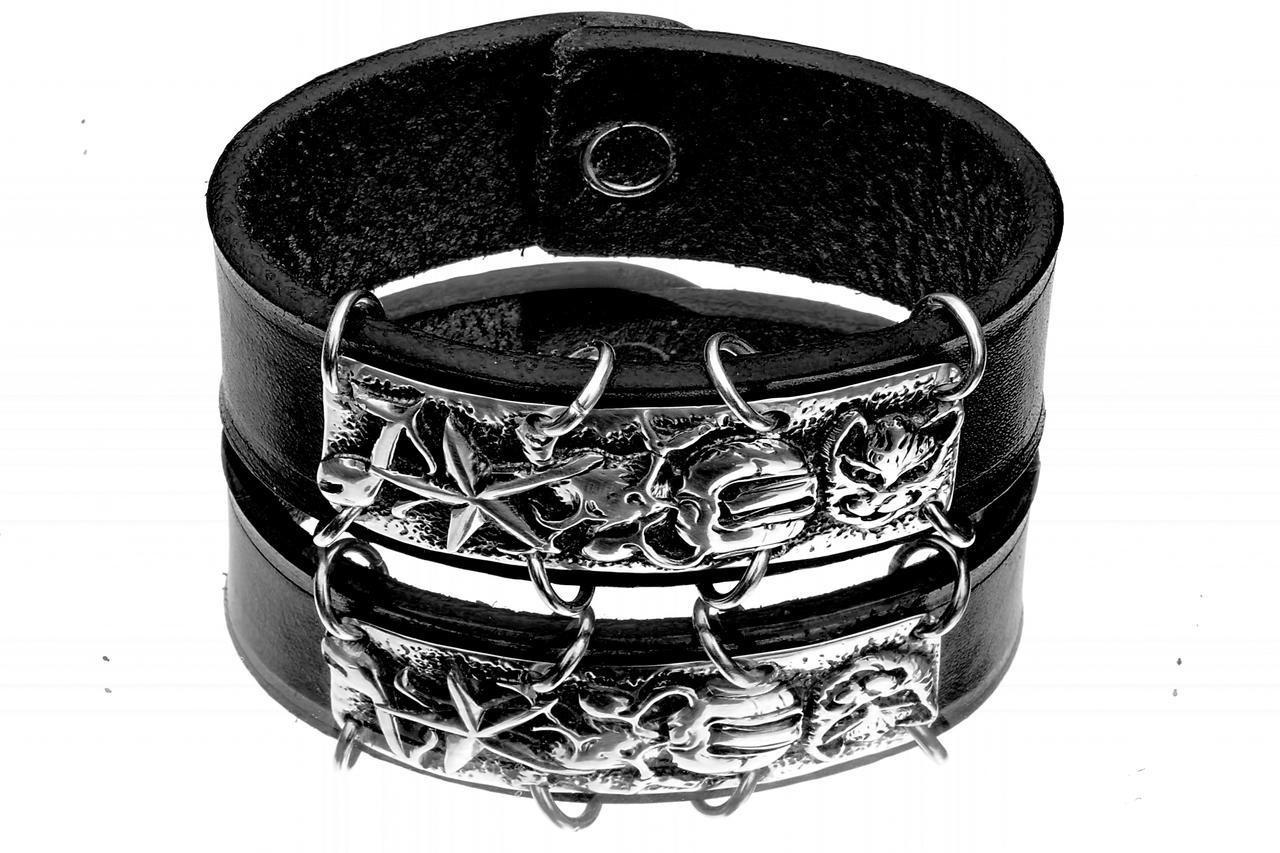 silver bracelet for a biker 3 by manuroartis
