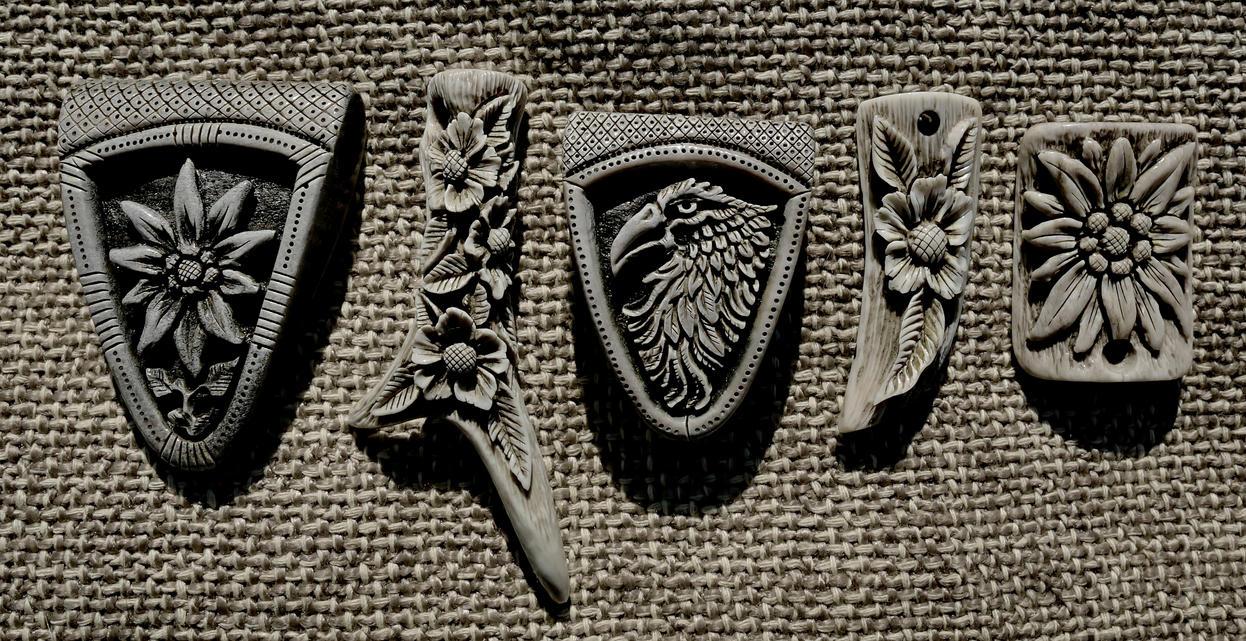Antler pendants 2 by manuroartis