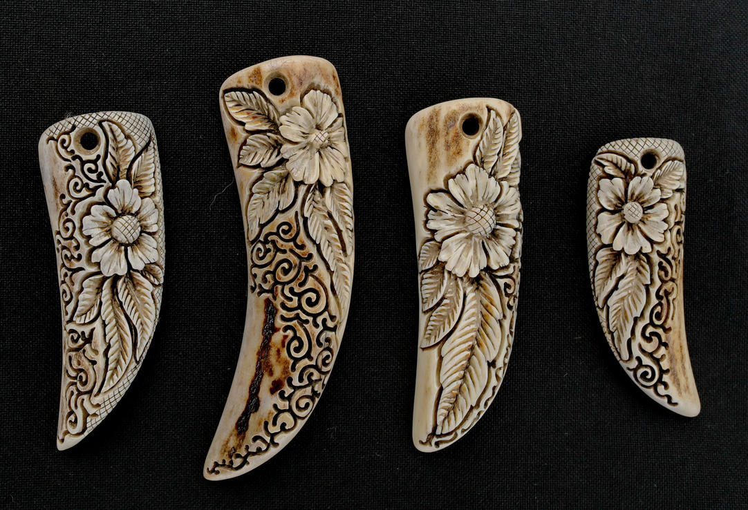 Antler pendants 3 by manuroartis