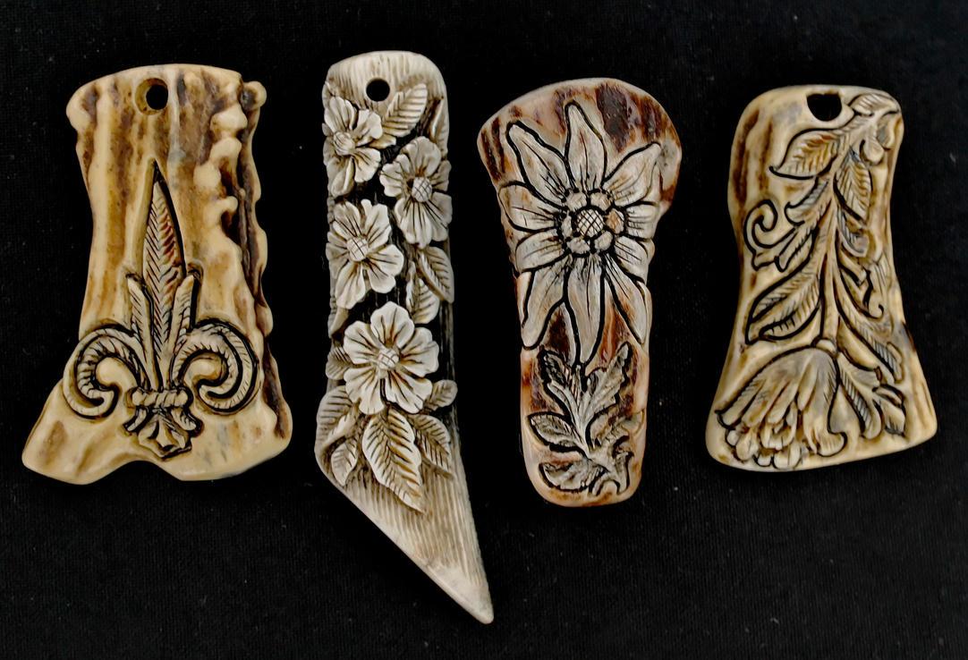 Antler pendants 4 by manuroartis