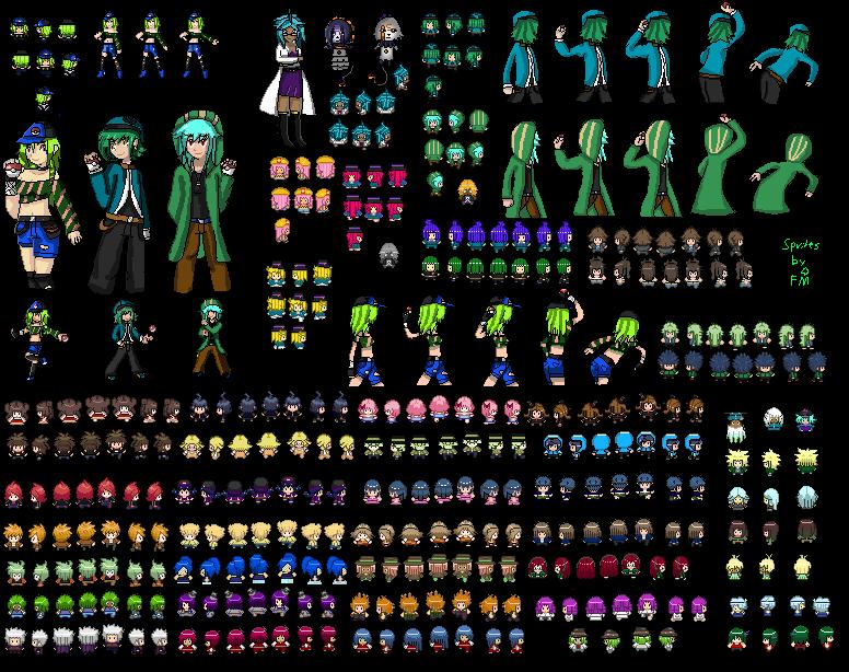 My Pokemon trainer Sprites by FumikoMiyasaki on DeviantArt
