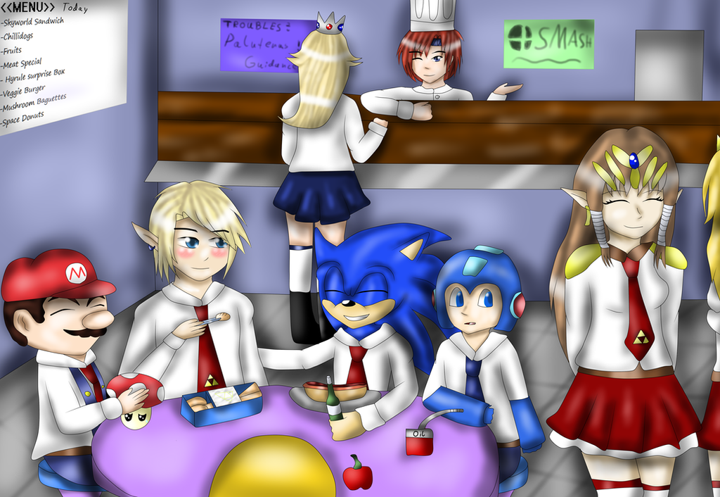 School of Smash- Lunch time by FumikoMiyasaki