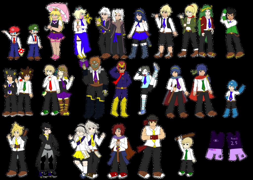 School of Smash: Uniforms by FumikoMiyasaki