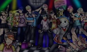 P5 dancing all night feat. P4 by FumikoMiyasaki