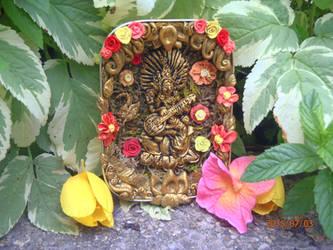 Saraswati Shrine by DriftingCloudss