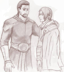 Ezio and young Ezio. by NeguriSasame