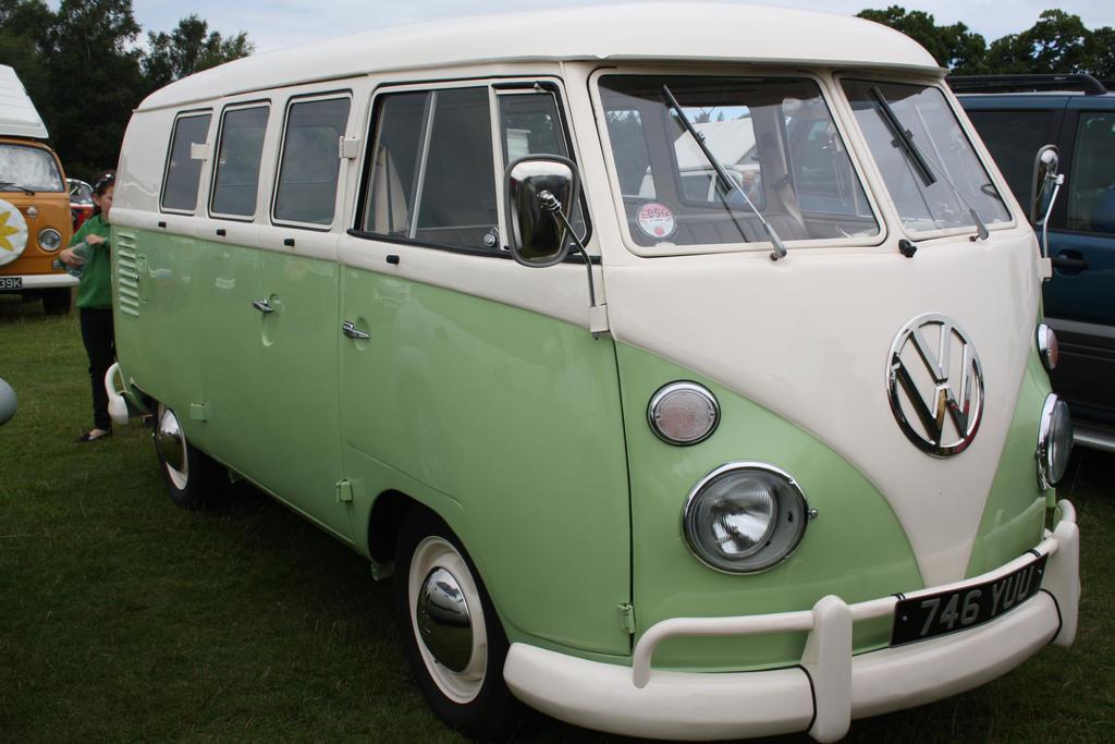 1960s VW Camper Lime Green By CariadCymru
