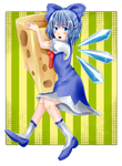 Cirno with cheese