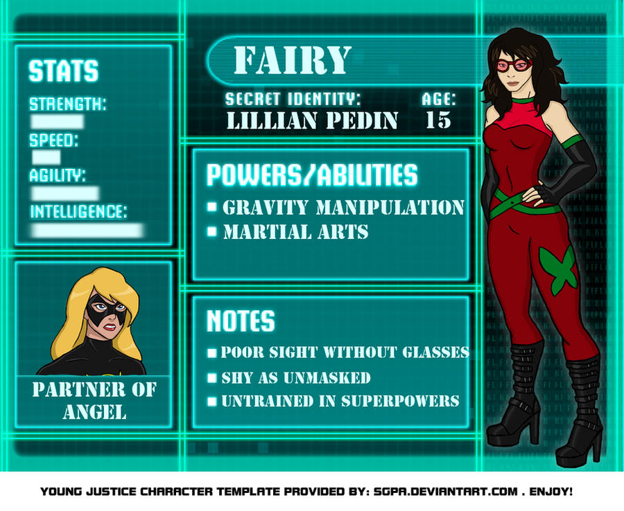 Young Justice OC Fairy by Pahgiz on DeviantArtYoung Justice Season 3 Character Bios