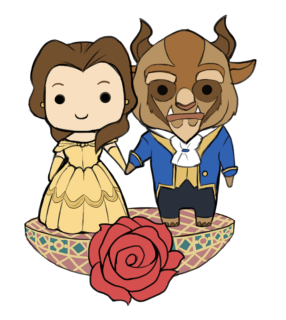beauty and the beast chibis by saintbree on deviantart