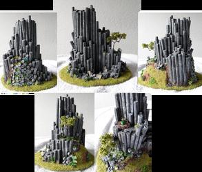 Basalt rock model