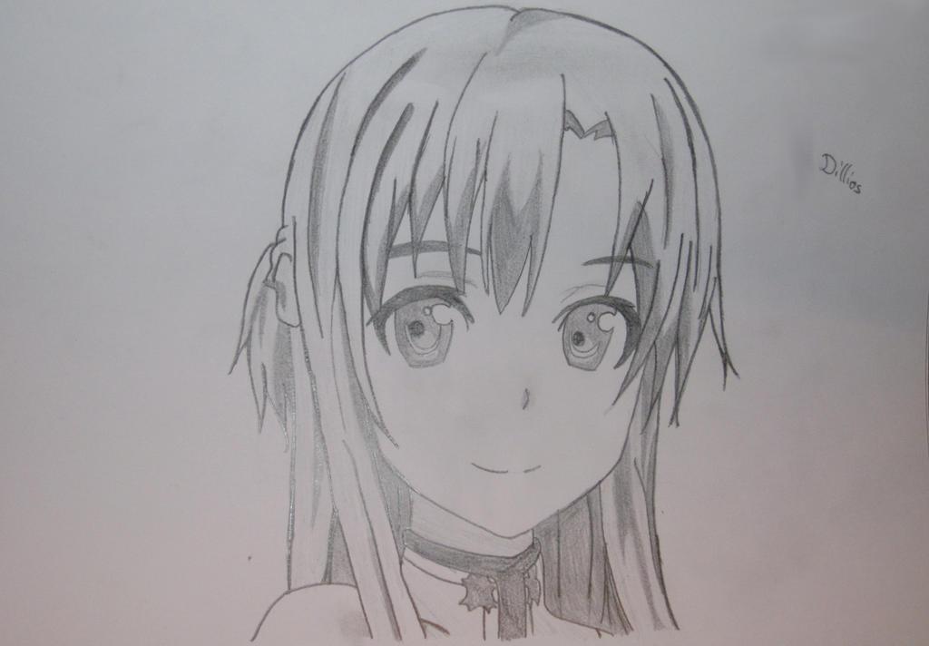 Sword Art Online Yuuki Asuna Drawing By Dillios On Deviantart