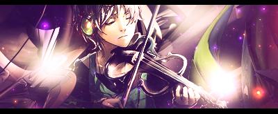 Anime Signature - Violinist by Dillios