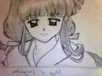 Kikyo of Inuyasha drawing by angelstien10