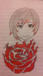 Ruby Rose of RWBY by angelstien10