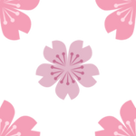 Sakura flower pattern