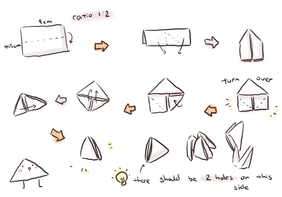 D Origami Cake Instructions