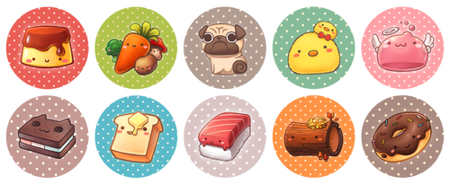 Cute Button Ideas by wangqr