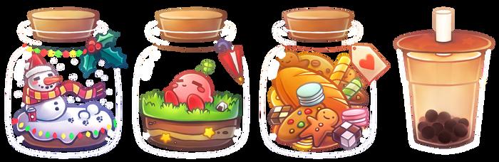 Jars and Milktea Designs