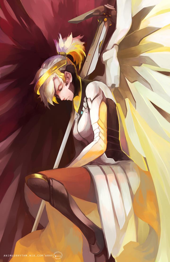 Overwatch Mercy by OXMiruku