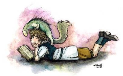Reading Buds by Artoveli