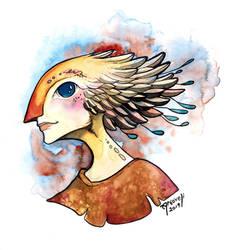 Commission - Bird Person by Artoveli