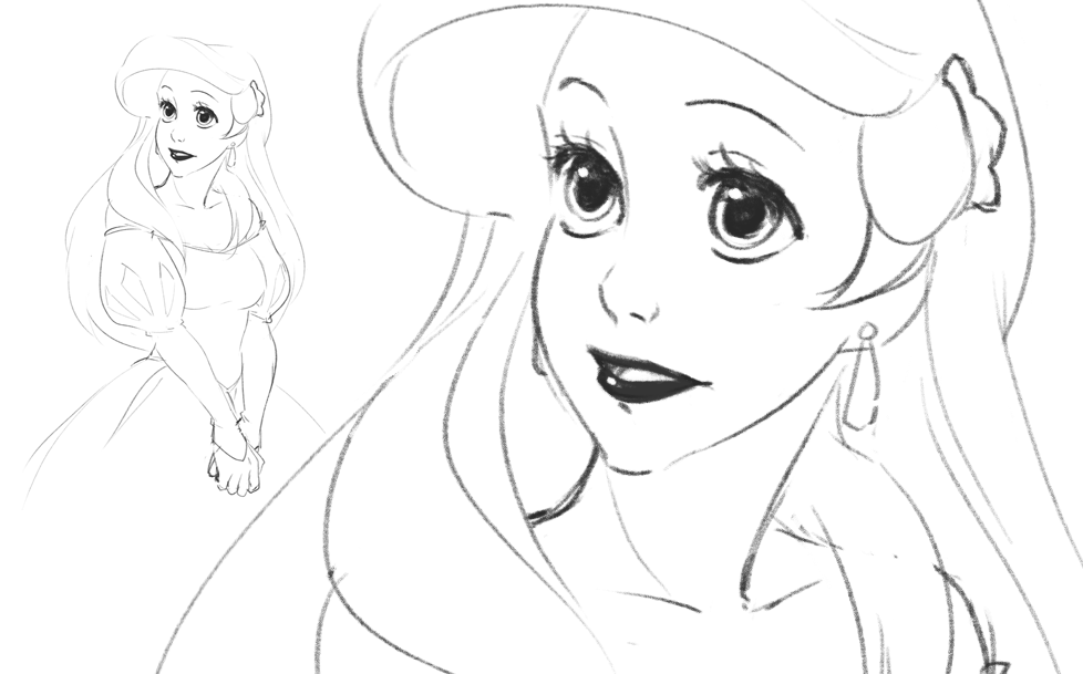 Ariel Sketch by Emily-Fay