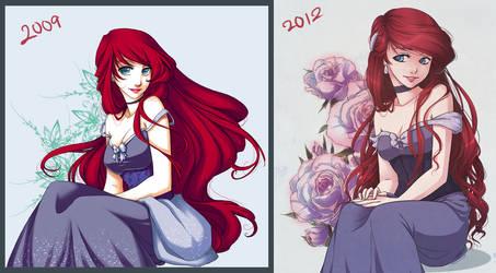 Princess Ariel Re-Draw by Emily-Fay