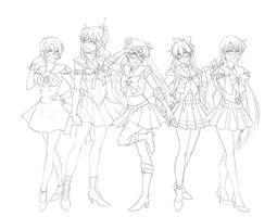 Sailor Scouts Protptype :ink: